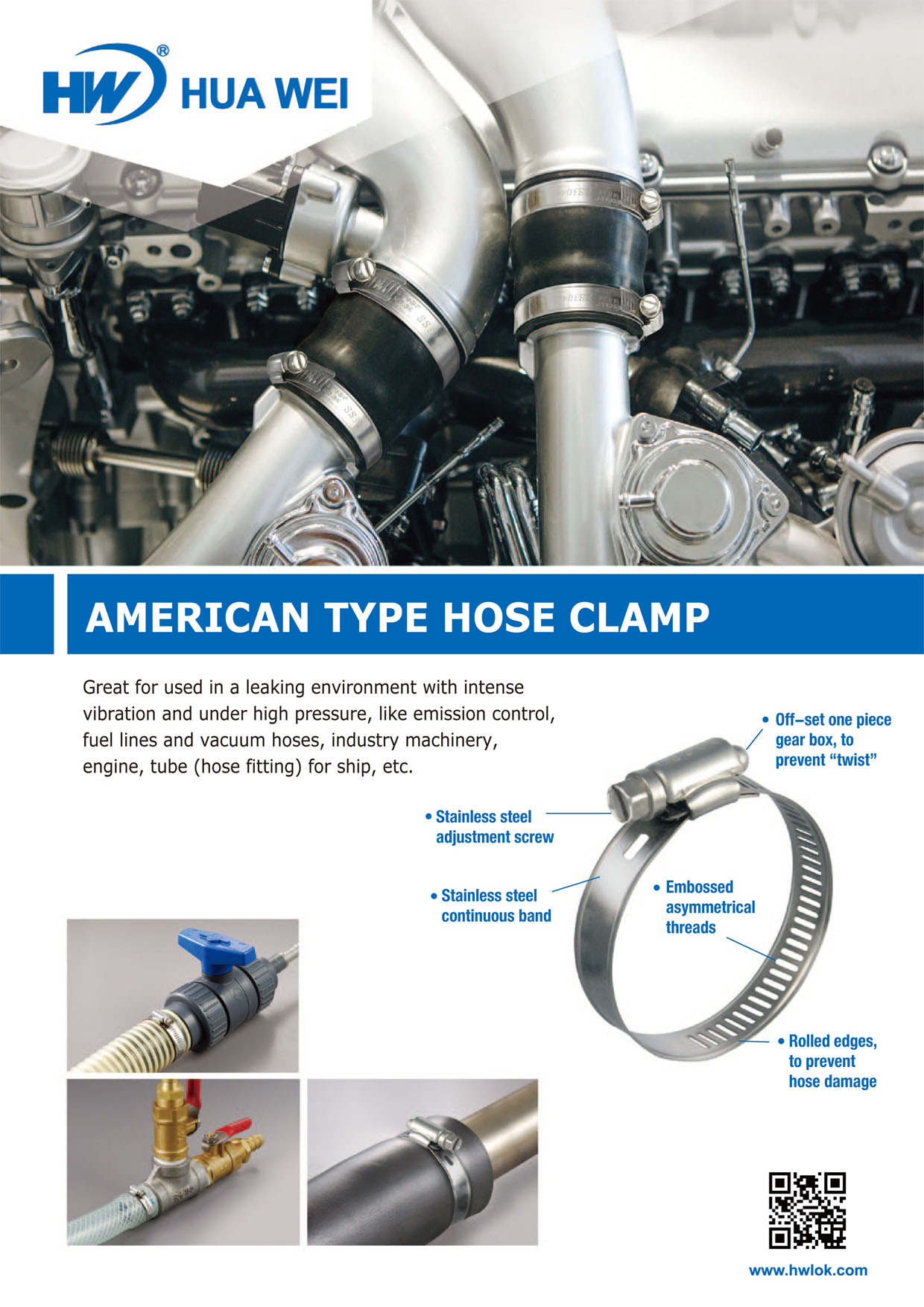 American Type Hose Clamp DM